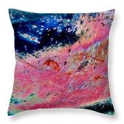 Strawberry Blueberry Universe Throw Pillow