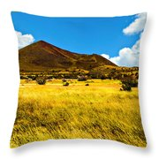 Strawberry Crater  Sunset Wupatki National Monument Throw Pillow