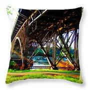 Strawberry Hill Bridge Throw Pillow