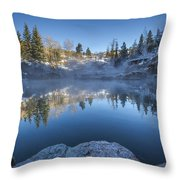 Strawberry Hot Springs Throw Pillow