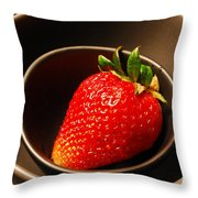 Strawberry In Nested Bowls Throw Pillow