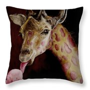 Strawberry Is My Favorite Throw Pillow by Diane Kraudelt