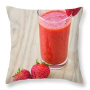 Strawberry Juice Throw Pillow