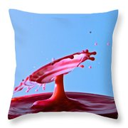 Strawberry Spin Throw Pillow