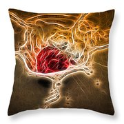 Strawberry Splash - 2 Throw Pillow