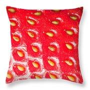Strawberry Texture Throw Pillow