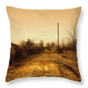 Strawmill Road Throw Pillow