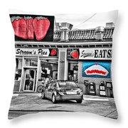 Strawn's Eat Shop Throw Pillow