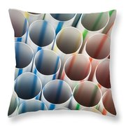 Straws 1 Throw Pillow