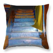 Stray Breeze On The Stairs Throw Pillow