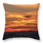 Streaks Above The Clouds Throw Pillow