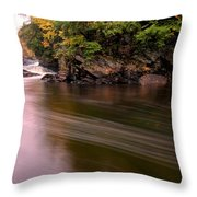Streaky Water Throw Pillow