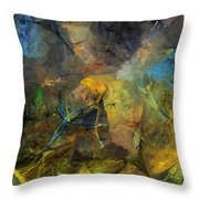 Stream Bed On A Sunny Day Throw Pillow