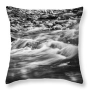 Stream Fall Colors Great Smoky Mountains Painted Bw  Throw Pillow