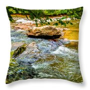 Stream II Throw Pillow