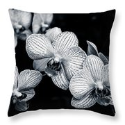 Stream Of Orchids Throw Pillow