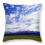 Streaming Sky Throw Pillow