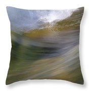 Streaming Water 2 Throw Pillow