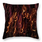 Streams Of Gold And Purple Throw Pillow