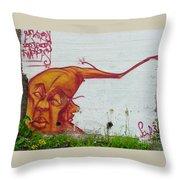 Street Art 4 Throw Pillow