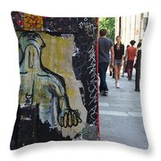 Street Art And Street Scene London Throw Pillow