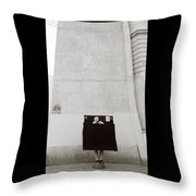 Paris Surrealism Throw Pillow