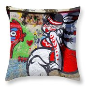 Street Art Valparaiso Chile 10 Throw Pillow