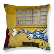 Street Art Valparaiso Chile 12 Throw Pillow