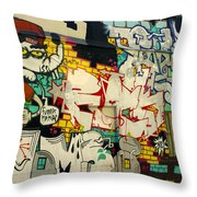 Street Art Valparaiso Chile 6 Throw Pillow
