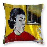 Street Art Valparaiso Chile 7 Throw Pillow