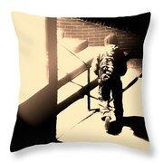 Street Artist Throw Pillow