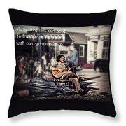 Street Beats Inspiration Throw Pillow