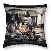 Street Beats Throw Pillow