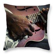 Street Blues Throw Pillow