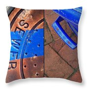 Street Cleaning Throw Pillow
