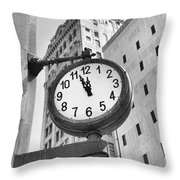 Street Clock Throw Pillow
