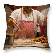 Street Cook - Hot Job Throw Pillow