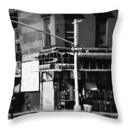 Street Corner - Horizontal Throw Pillow