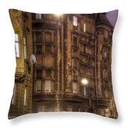 Street Corner Budapest Throw Pillow