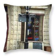 Street Corner In New Orleans Throw Pillow