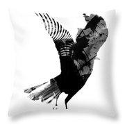 Street Crow Throw Pillow