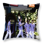 Street Entertainers In The Hollywood Section Throw Pillow