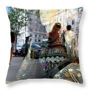 Street Fashion Throw Pillow