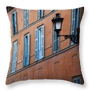 Street Illuminated..  Throw Pillow