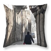 Street In Aleppo Syria Throw Pillow