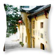 Street In Anhui Province China Throw Pillow