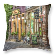 Street In Ghent Throw Pillow