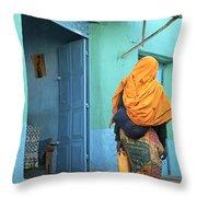 Street In Harar Ethiopia  Throw Pillow