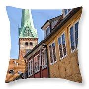 Street In Helsingor Denmark Throw Pillow