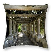 Street In Historic In Granada Throw Pillow